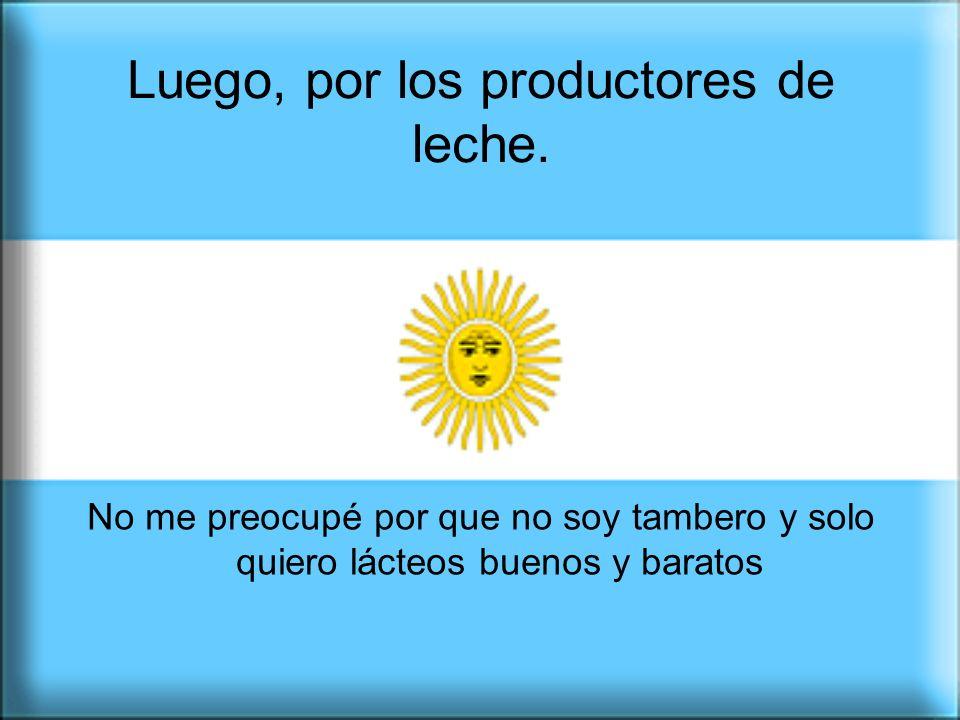 Los productores agropecuarios somos argentinos.No somos enemigos, como te quieren hacer creer.