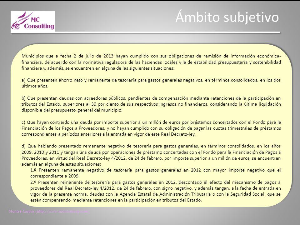 Montse Carpio (http://www.montsecarpio.es) Medidas extraordinarias.
