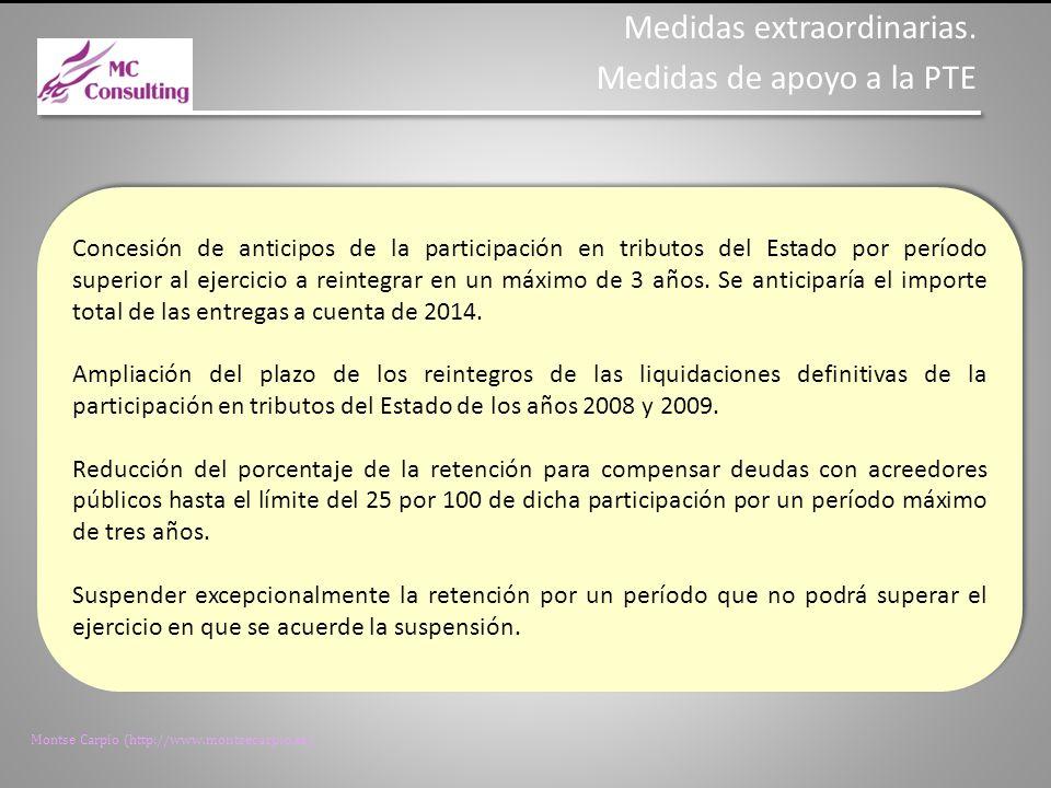 Montse Carpio (http://www.montsecarpio.es) Concesión de fraccionamientos por parte de la Agencia Tributaria y de la Tesorería General de la Seguridad Social para la cancelación de las deudas, por un plazo de diez años y resultando de aplicación el tipo de interés legal del dinero.