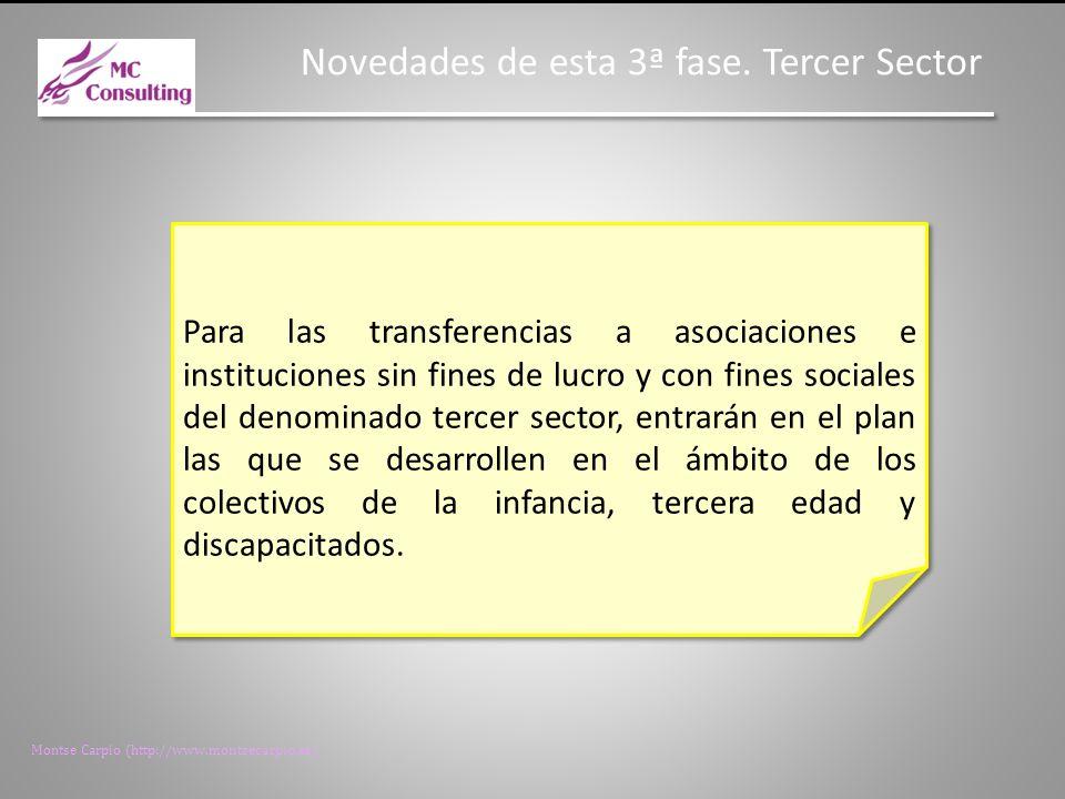 Montse Carpio (http://www.montsecarpio.es) Novedades de esta 3ª fase.