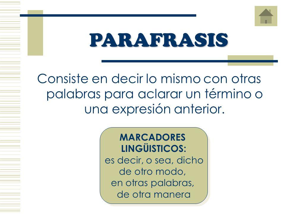 Expresa los significados de vocablos o expresiones que los lectores pueden desconocer. Pueden ser definiciones de: SIGNIFICADO – FUNCIÓN – CARACTERÍST