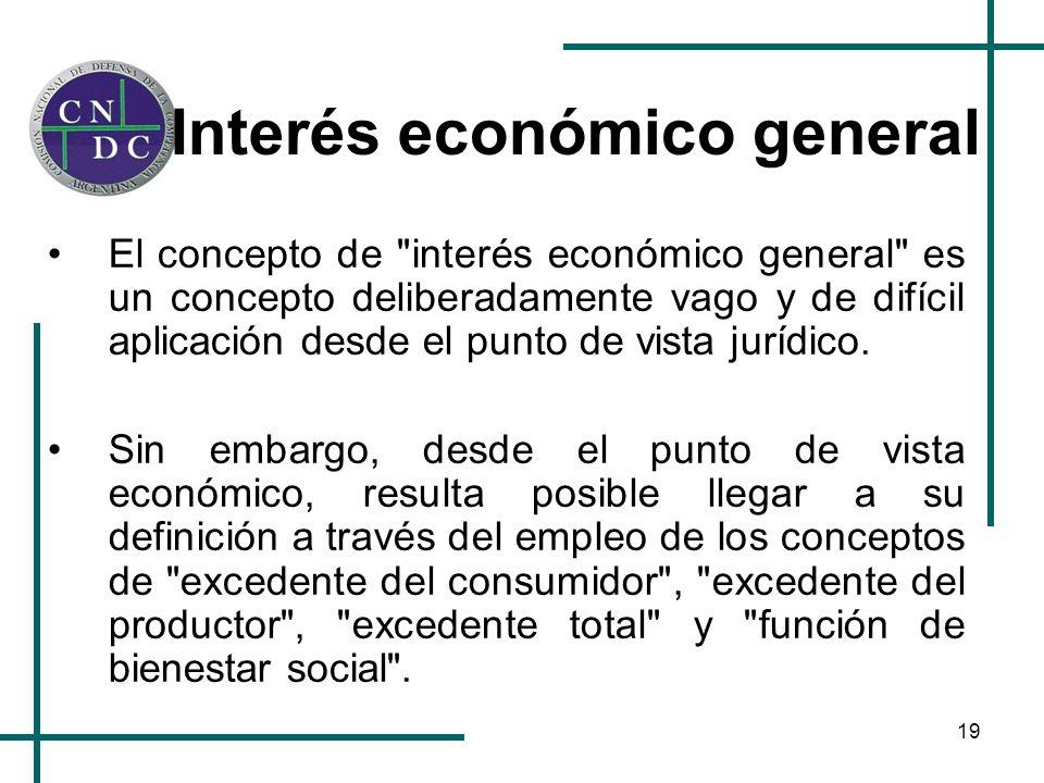 19 Interés económico general El concepto de