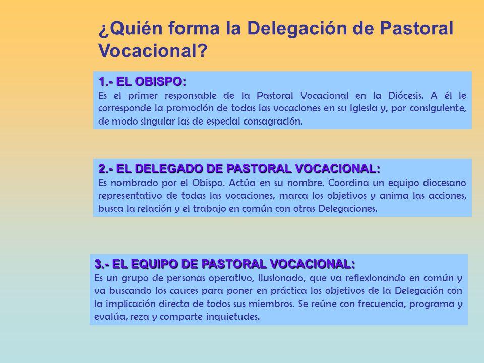 desde la ANIMACIÓN: CAMPAÑA VOCACIONAL: - Sensibilizar a la comunidad diocesana a tomar conciencia de que Dios llama y envía.