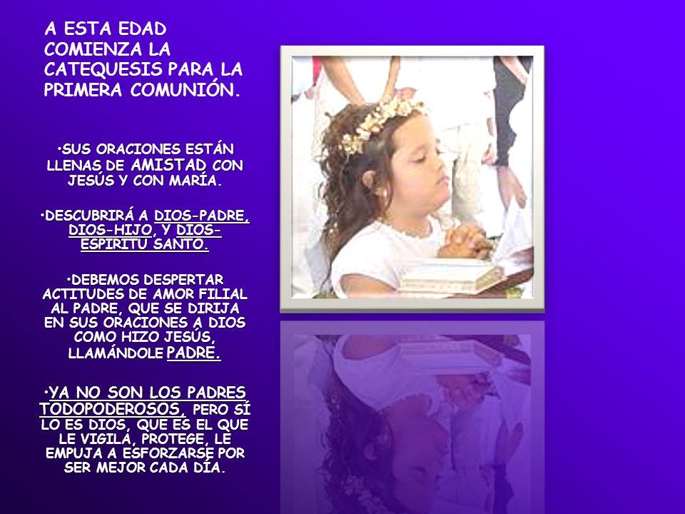 A ESTA EDAD COMIENZA LA CATEQUESIS PARA LA PRIMERA COMUNIÓN.
