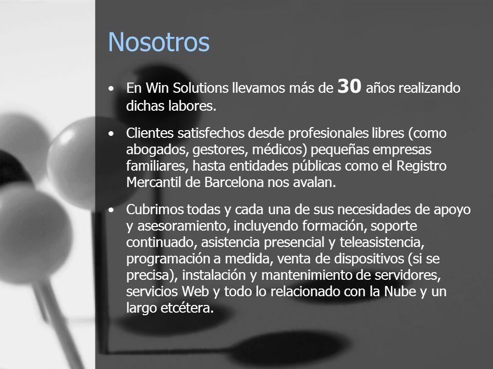 Nosotros En Win Solutions llevamos más de 30 años realizando dichas labores.