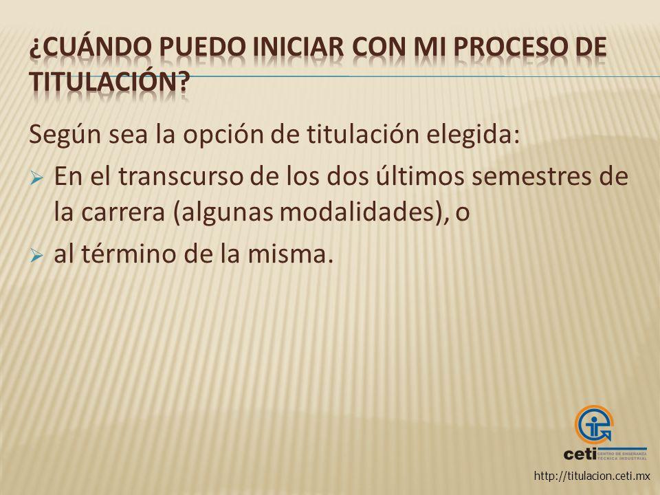 http://titulacion.ceti.mx Entidad responsable de llevar a cabo los procedimientos administrativos de la Titulación en nombre de la Dirección Académica.