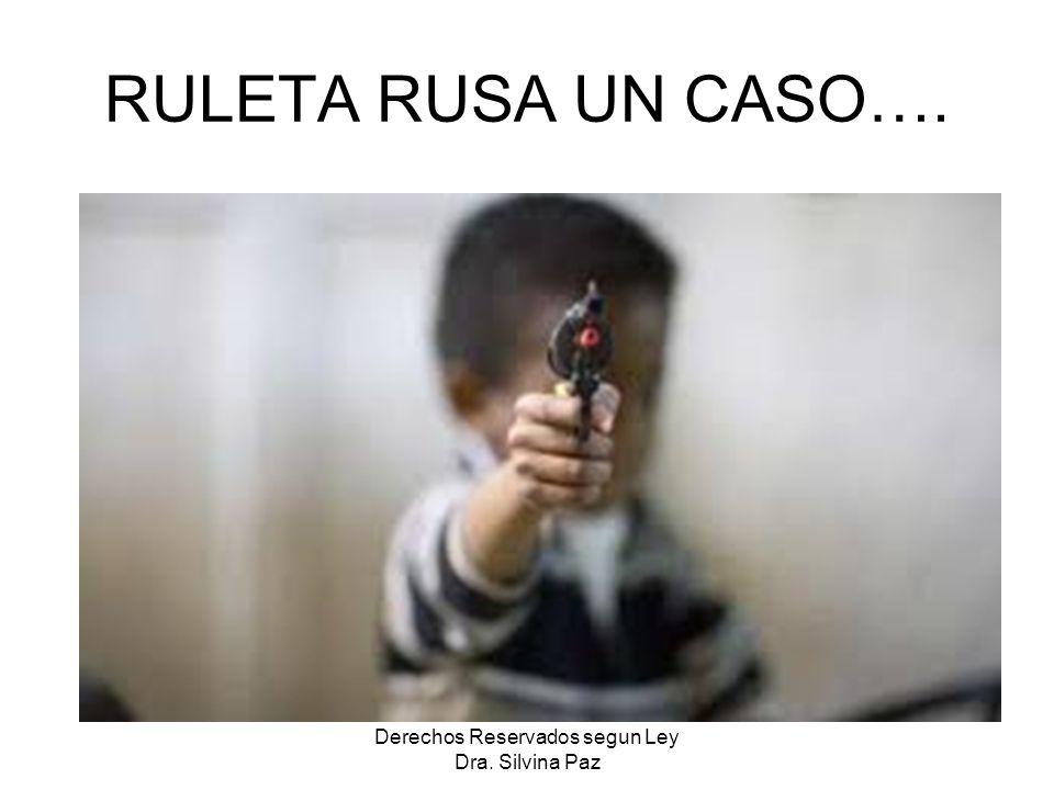 RULETA RUSA UN CASO…. Derechos Reservados segun Ley Dra. Silvina Paz