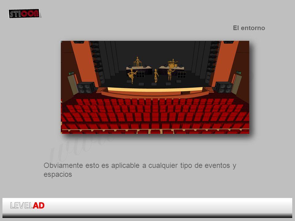 www.sticon.es El entorno Obviamente esto es aplicable a cualquier tipo de eventos y espacios