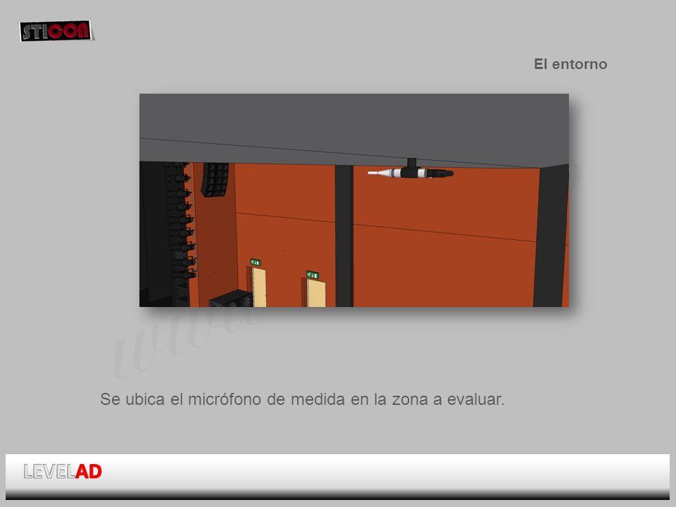 www.sticon.es El entorno Se ubica el micrófono de medida en la zona a evaluar.