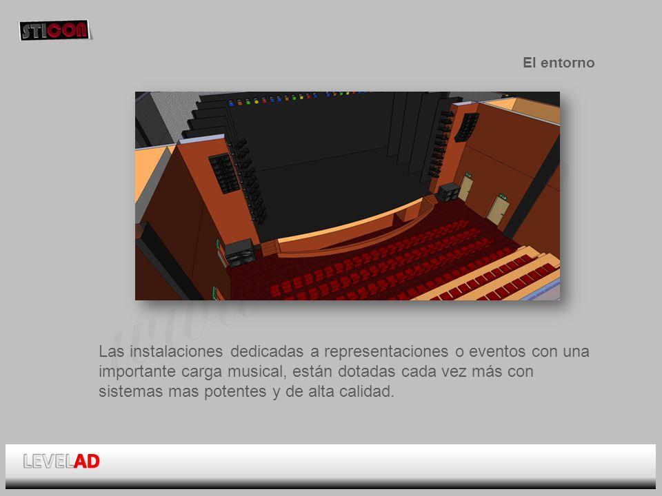 www.sticon.es El entorno Las instalaciones dedicadas a representaciones o eventos con una importante carga musical, están dotadas cada vez más con sistemas mas potentes y de alta calidad.