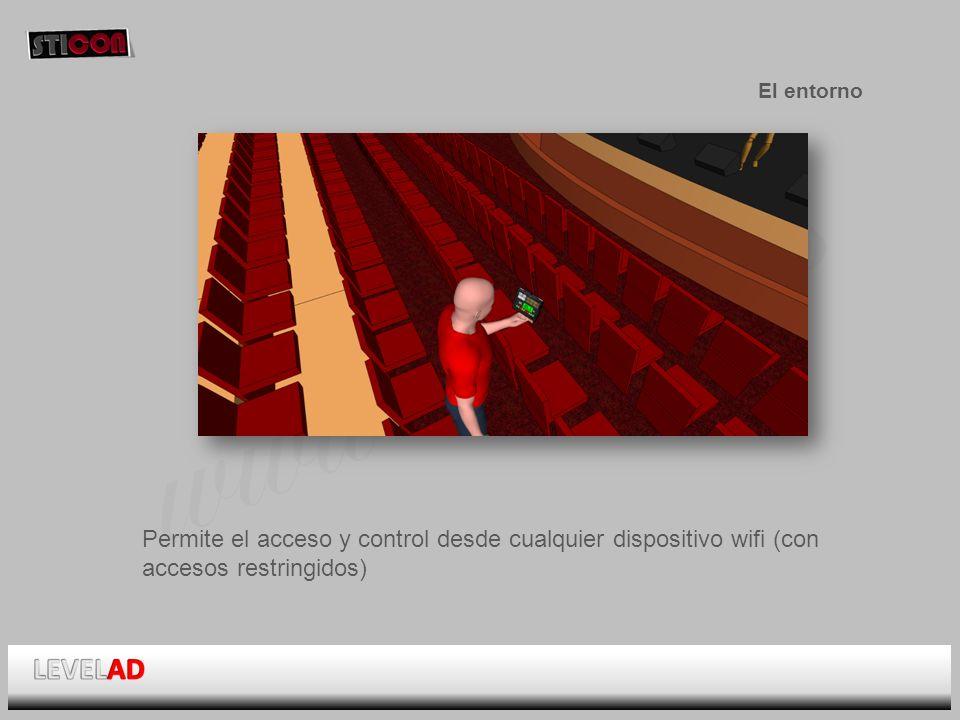 www.sticon.es El entorno Permite el acceso y control desde cualquier dispositivo wifi (con accesos restringidos)