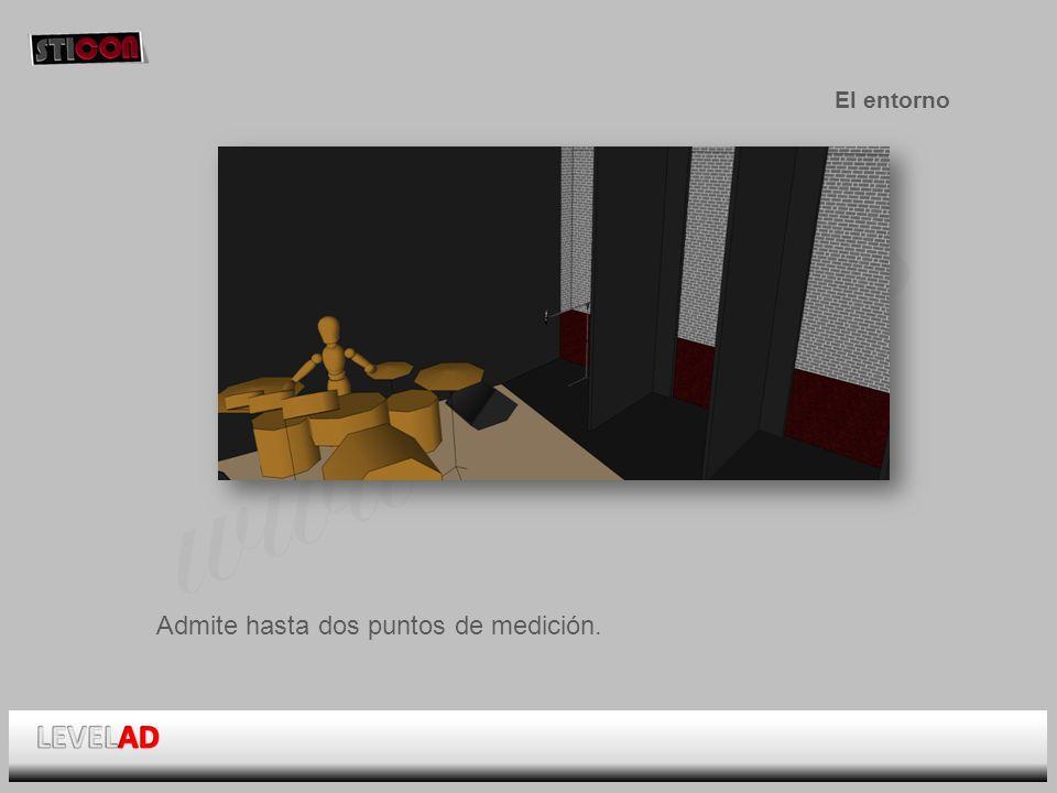 www.sticon.es El entorno Admite hasta dos puntos de medición.
