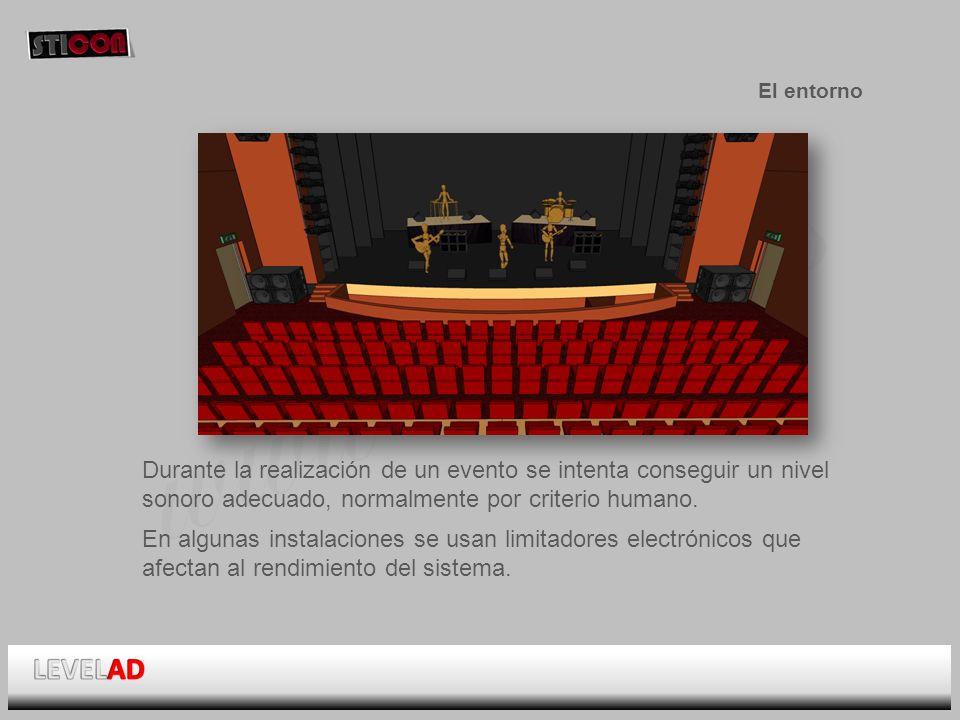 www.sticon.es El entorno Durante la realización de un evento se intenta conseguir un nivel sonoro adecuado, normalmente por criterio humano.