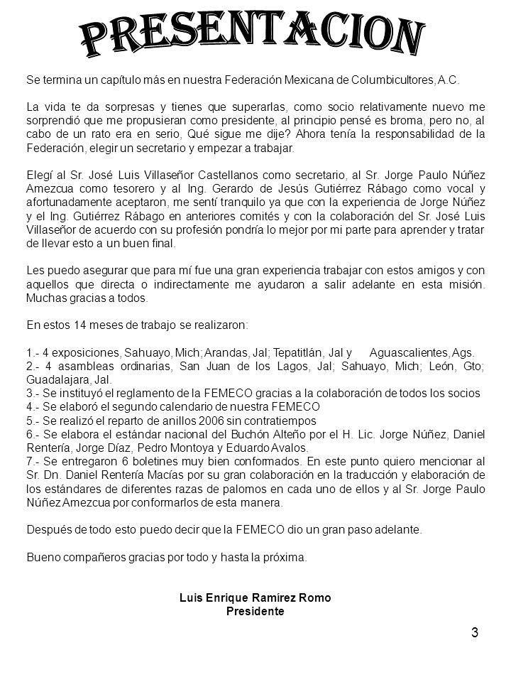3 Se termina un capítulo más en nuestra Federación Mexicana de Columbicultores, A.C.