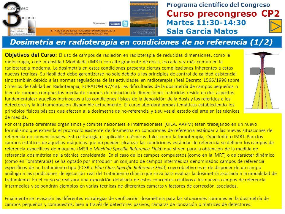Programa científico del Congreso Ponencias y comunicaciones Jueves 12:00-14:00 Sala Europa Área 9 y 10.