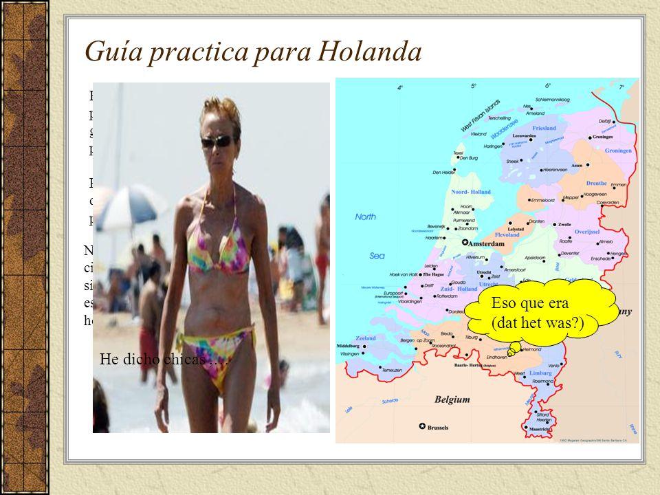 Guía practica para Holanda Holanda, mas conocida como los países majos, es un estado tolerante de gente educada, de gustos sencillos, pero todo dentro de un orden..