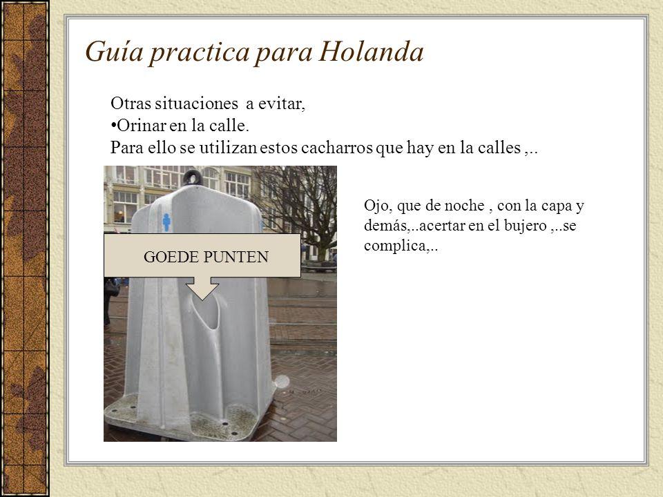 Guía practica para Holanda Otras situaciones a evitar, Orinar en la calle.