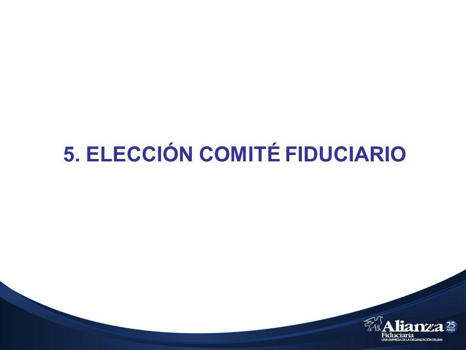 27 5. ELECCIÓN COMITÉ FIDUCIARIO