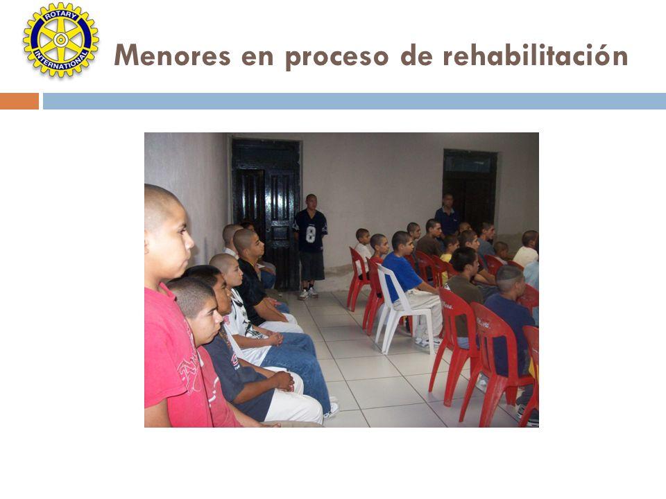 Menores en proceso de rehabilitación