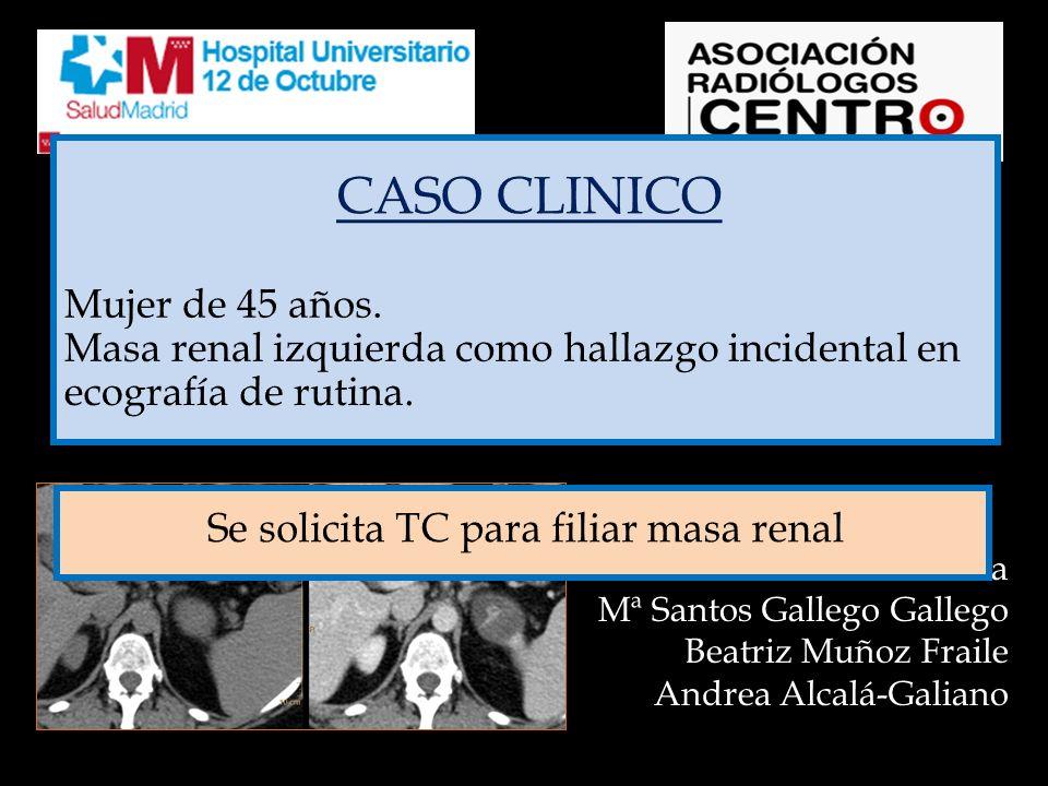Se solicita estudio de TC para filiar masa renal.
