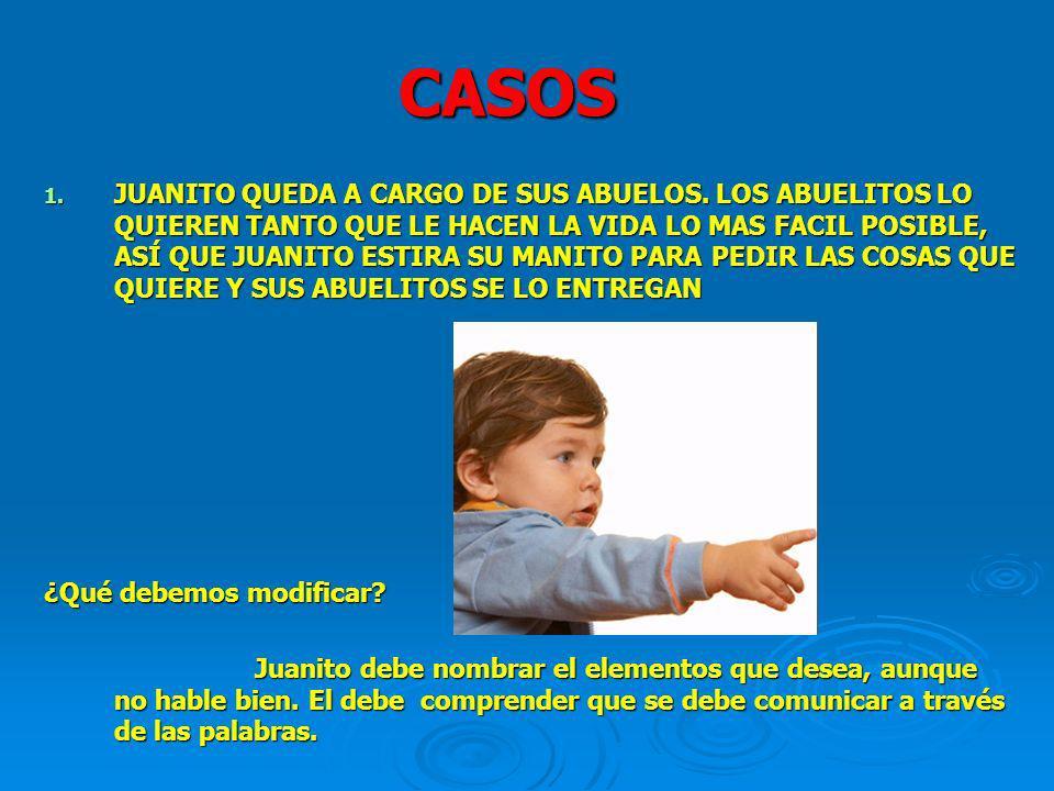 CASOS 1. JUANITO QUEDA A CARGO DE SUS ABUELOS.