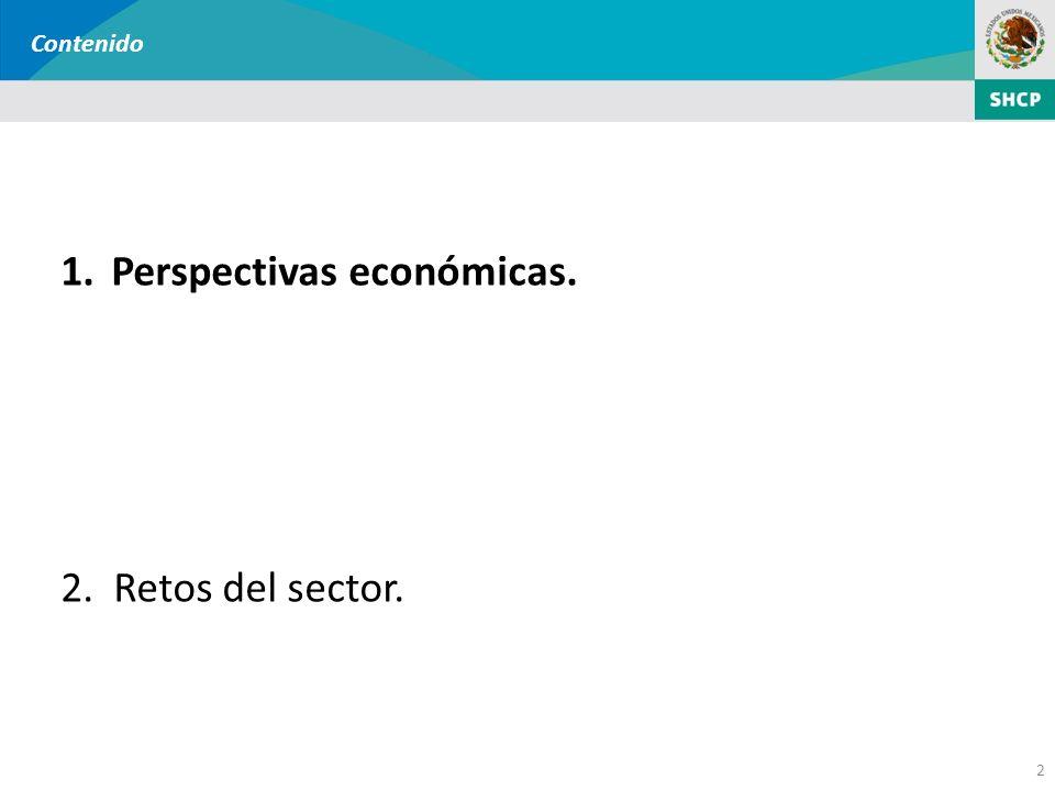 2 Contenido 1.Perspectivas económicas. 2.Retos del sector.