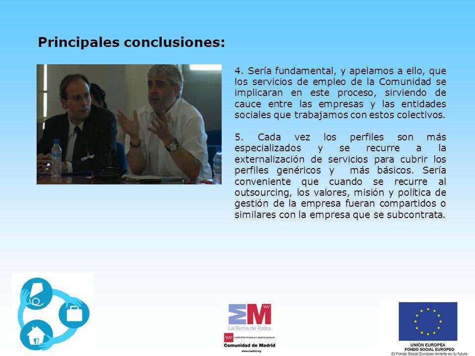 Principales conclusiones: 4.