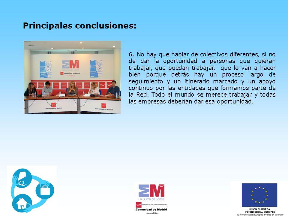 Principales conclusiones: 6.