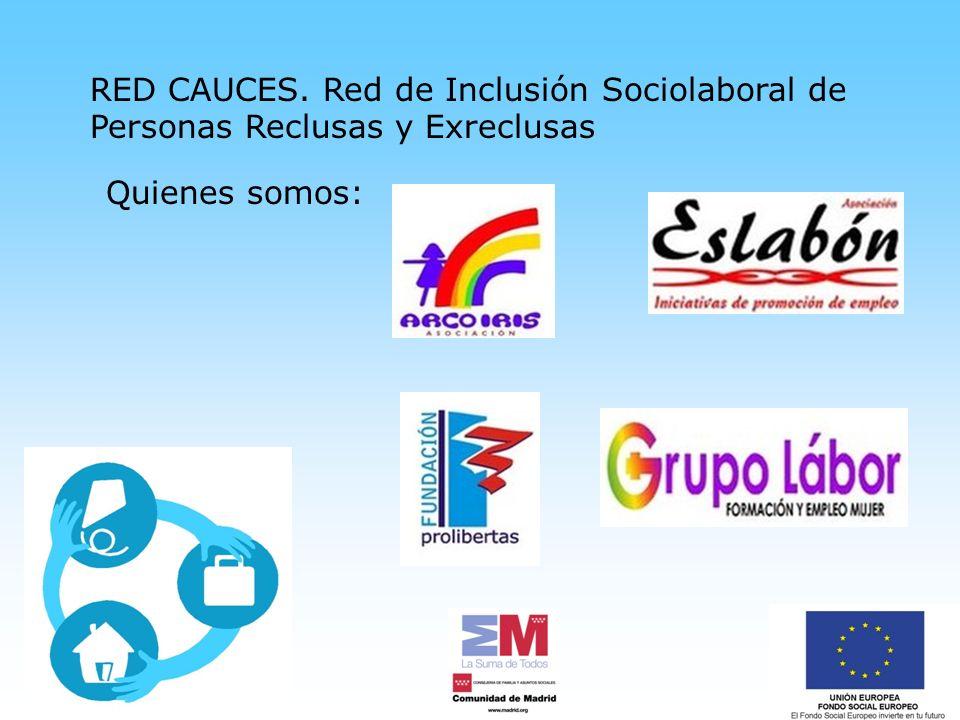 RED CAUCES. Red de Inclusión Sociolaboral de Personas Reclusas y Exreclusas Quienes somos: