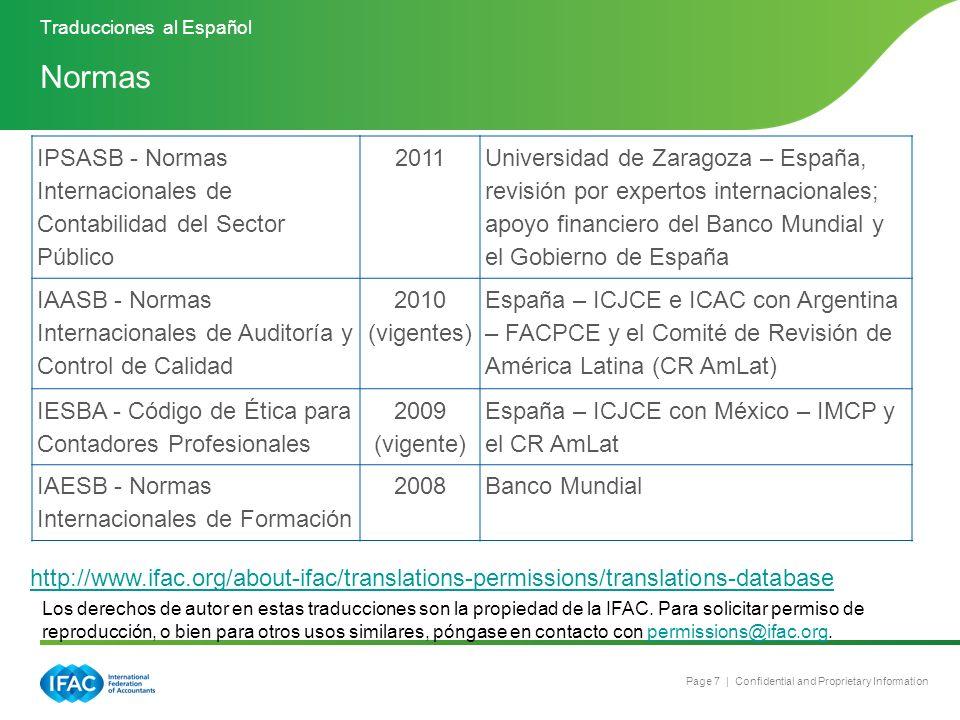 Page 7 | Confidential and Proprietary Information IPSASB - Normas Internacionales de Contabilidad del Sector Público 2011 Universidad de Zaragoza – Es