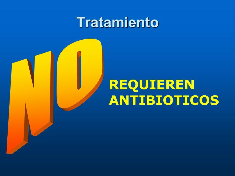 Tratamiento REQUIEREN ANTIBIOTICOS
