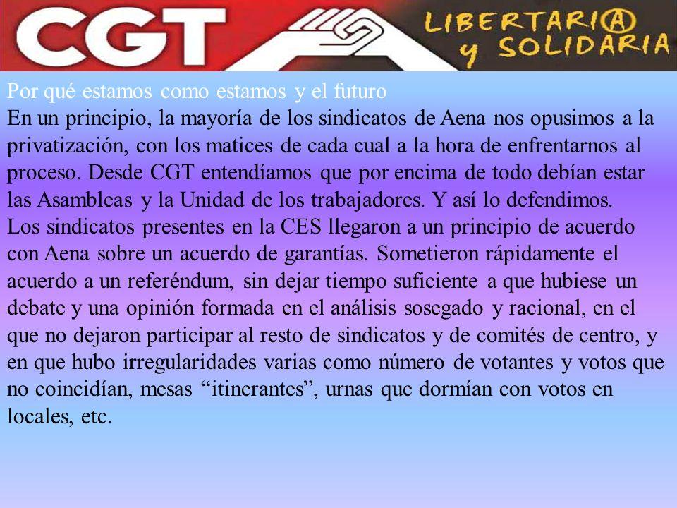 10 de Mayo de 2011.Elecciones Sindicales en Aena.