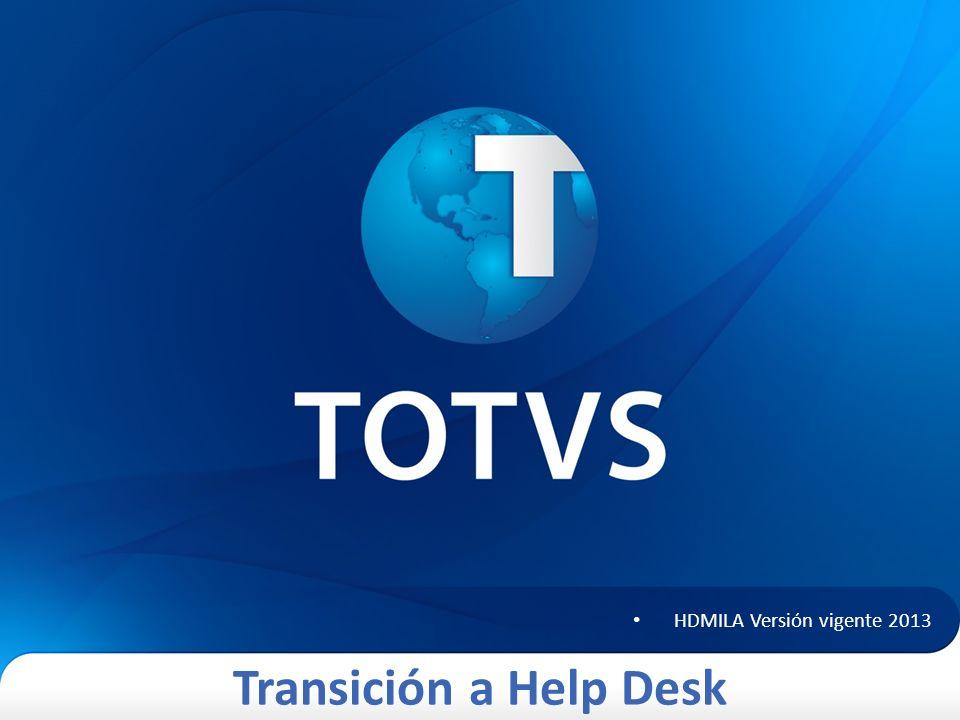 Transición a Help Desk Esquema de solicitud Help Desk 12 ¿Cuál es el procedimiento para solicitar el servicio de Help Desk.