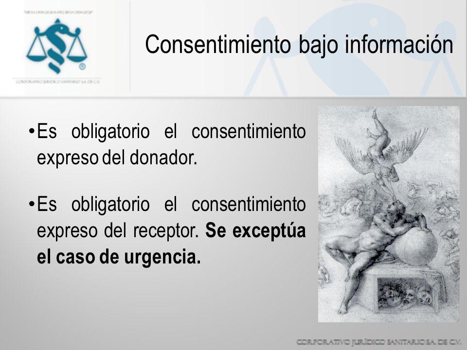 Es obligatorio el consentimiento expreso del donador.
