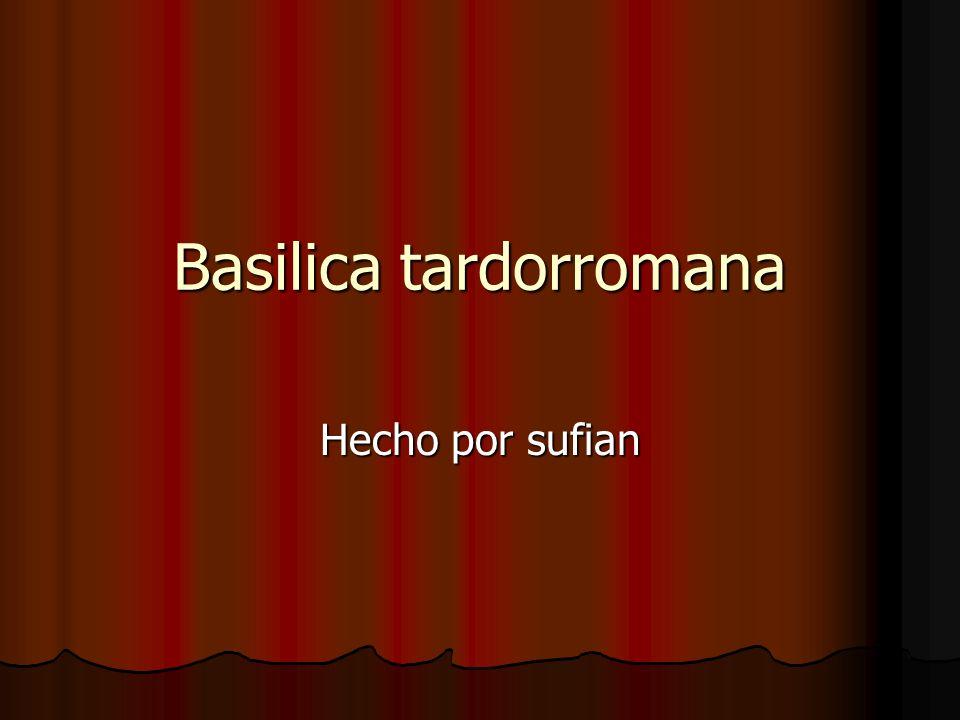 Historia de la basilica tardorromana Basílica Tardorromana Basílica Tardorromana El descubrimiento de la Basílica y Necrópolis de Ceuta, supone un importarte hallazgo ya que se trata de unos de los escasos testimonios del Cristianismo y de recintos basilicales en el extremo occidental norteafricano.