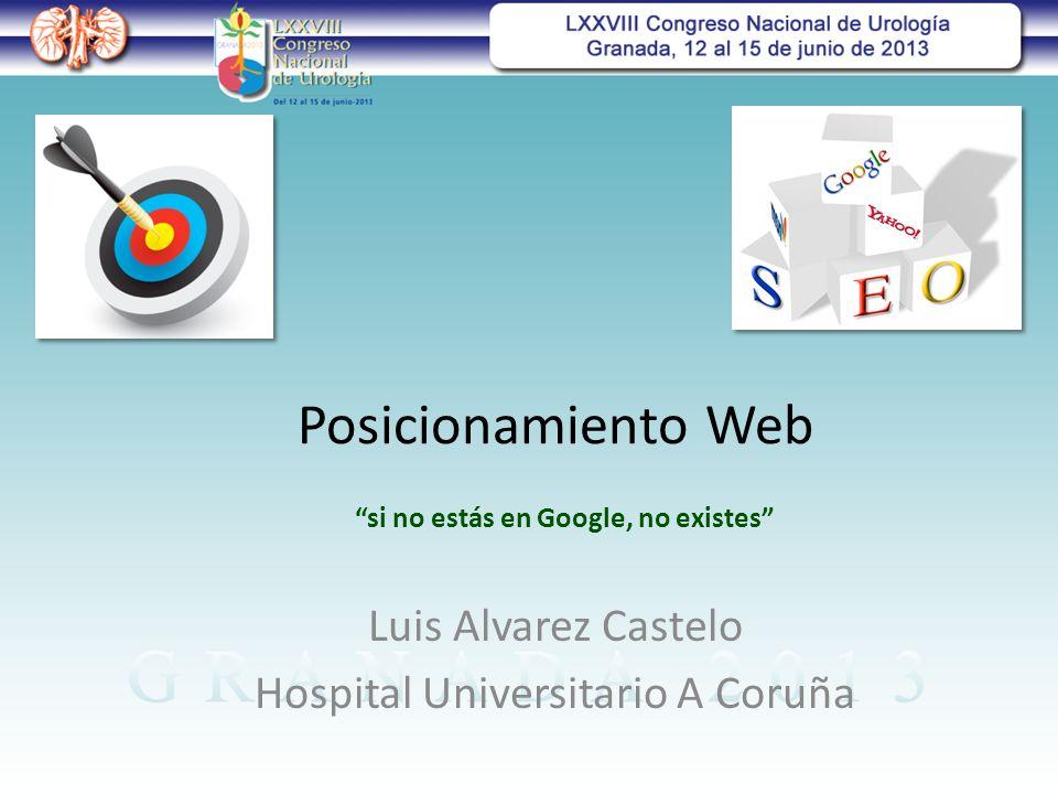 Posicionamiento Web Luis Alvarez Castelo Hospital Universitario A Coruña si no estás en Google, no existes