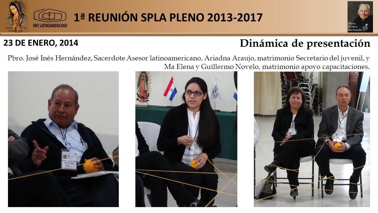 1ª REUNIÓN SPLA PLENO 2013-2017 23 DE ENERO, 2014 Dinámica de presentación Pbro.