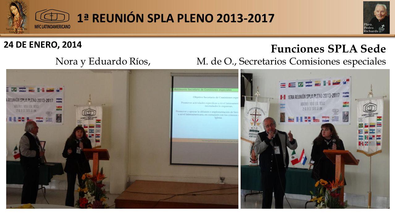 1ª REUNIÓN SPLA PLENO 2013-2017 24 DE ENERO, 2014 Funciones SPLA Sede Nora y Eduardo Ríos, M.