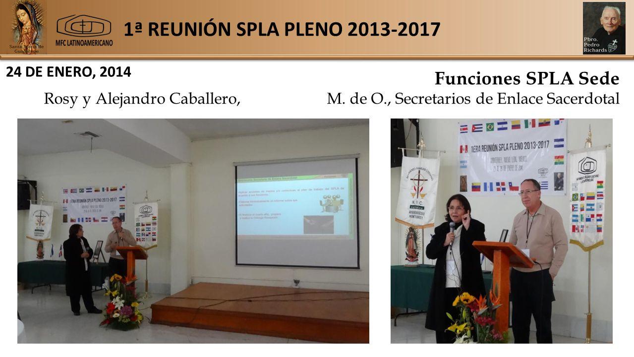 1ª REUNIÓN SPLA PLENO 2013-2017 24 DE ENERO, 2014 Funciones SPLA Sede Rosy y Alejandro Caballero,M.