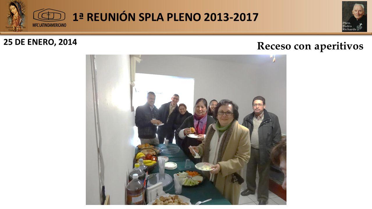 1ª REUNIÓN SPLA PLENO 2013-2017 25 DE ENERO, 2014 Receso con aperitivos