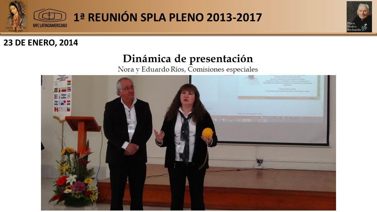 1ª REUNIÓN SPLA PLENO 2013-2017 23 DE ENERO, 2014 Dinámica de presentación Nora y Eduardo Ríos, Comisiones especiales