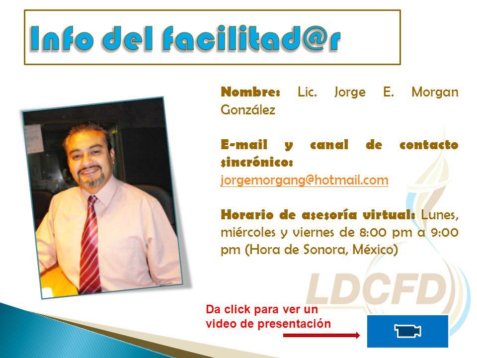 Nombre: Lic. Jorge E.