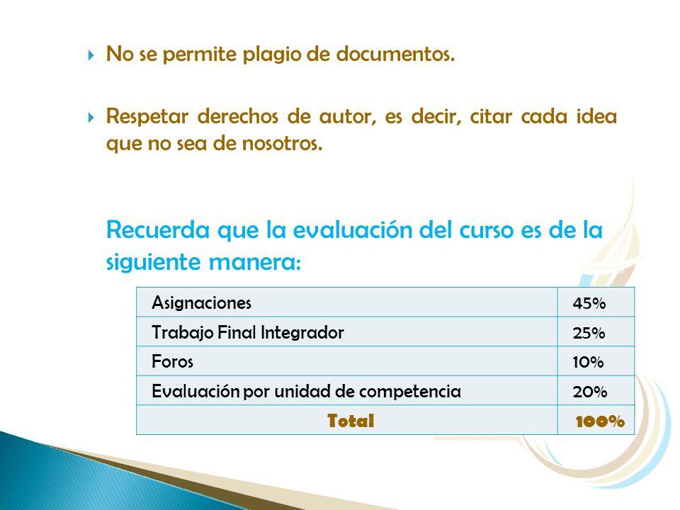 No se permite plagio de documentos.