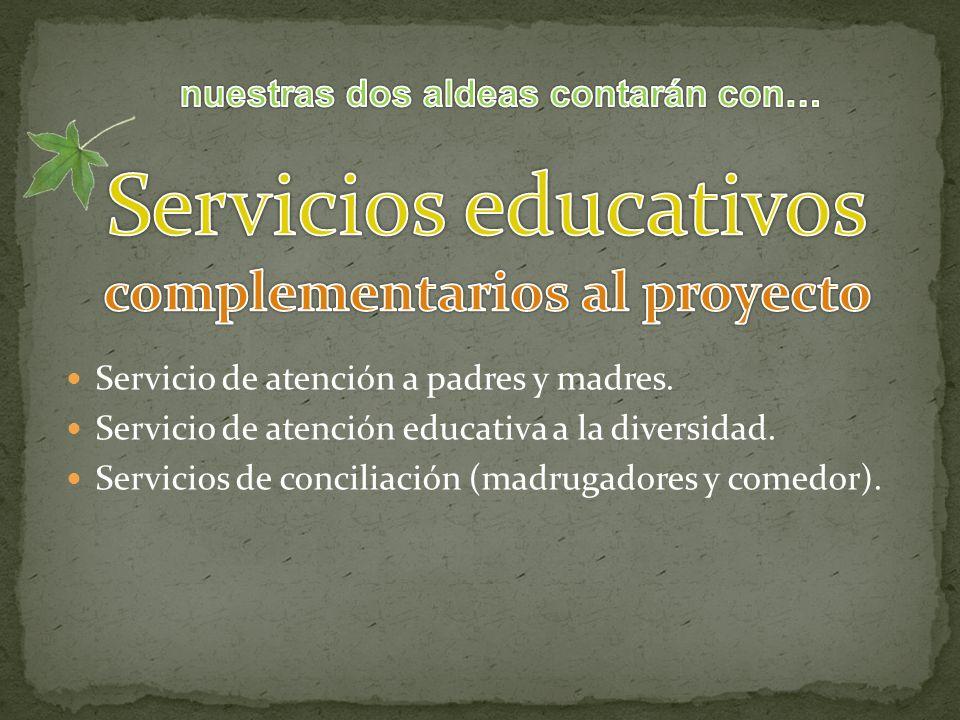 Servicio de atención a padres y madres. Servicio de atención educativa a la diversidad.