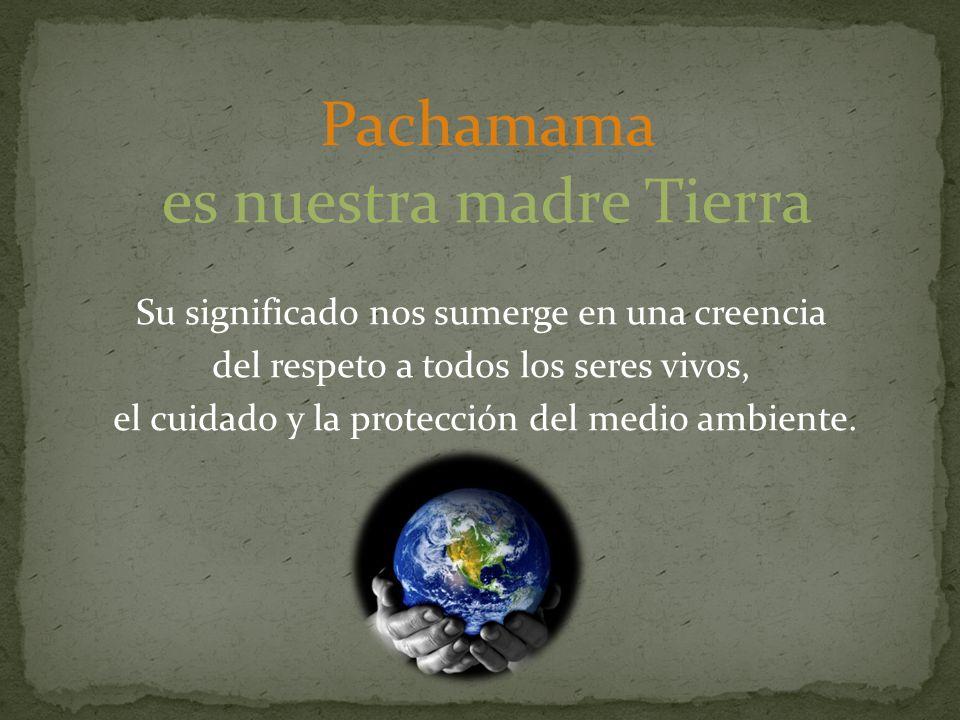 Su significado nos sumerge en una creencia del respeto a todos los seres vivos, el cuidado y la protección del medio ambiente.