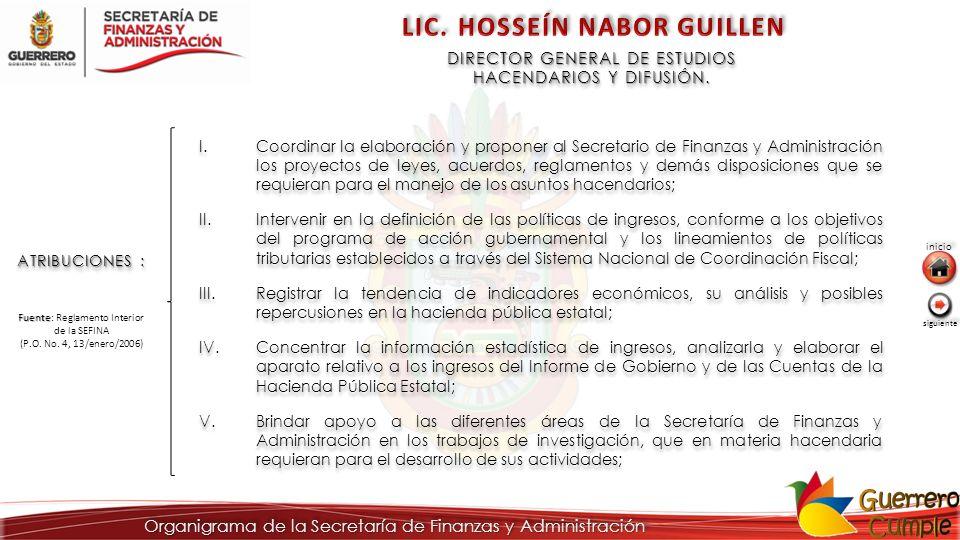 DIRECTOR GENERAL DE ESTUDIOS HACENDARIOS Y DIFUSIÓN.