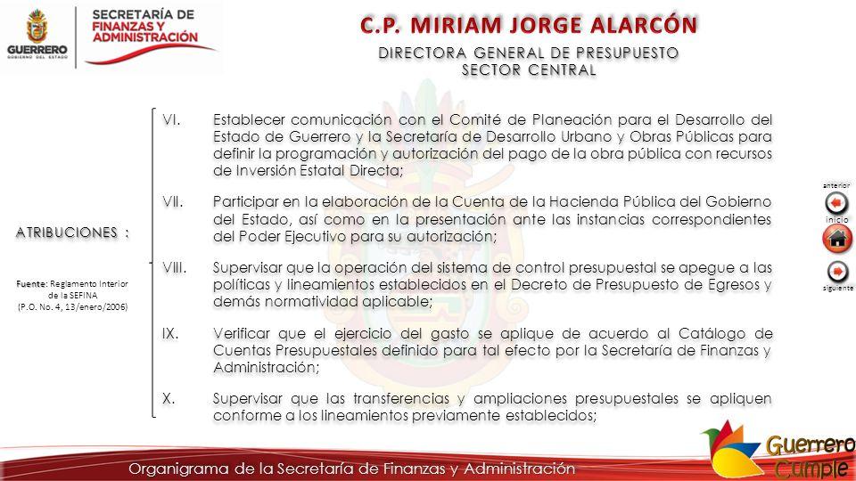 ATRIBUCIONES : VI.Establecer comunicación con el Comité de Planeación para el Desarrollo del Estado de Guerrero y la Secretaría de Desarrollo Urbano y