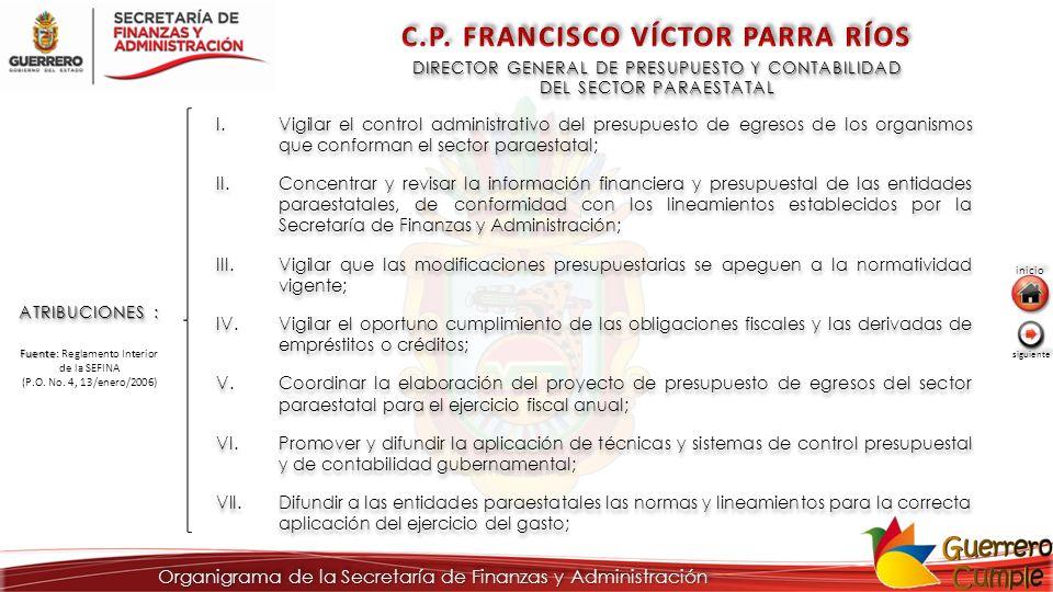 DIRECTOR GENERAL DE PRESUPUESTO Y CONTABILIDAD DEL SECTOR PARAESTATAL DIRECTOR GENERAL DE PRESUPUESTO Y CONTABILIDAD DEL SECTOR PARAESTATAL ATRIBUCION