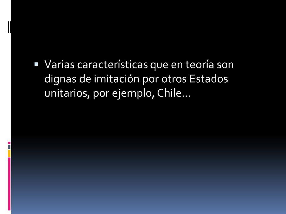 Por ejemplo, Colombia se identifica con un Estado Unitario: centralismo político, descentralización, autonomía territorial, regionalización, jurisdicc