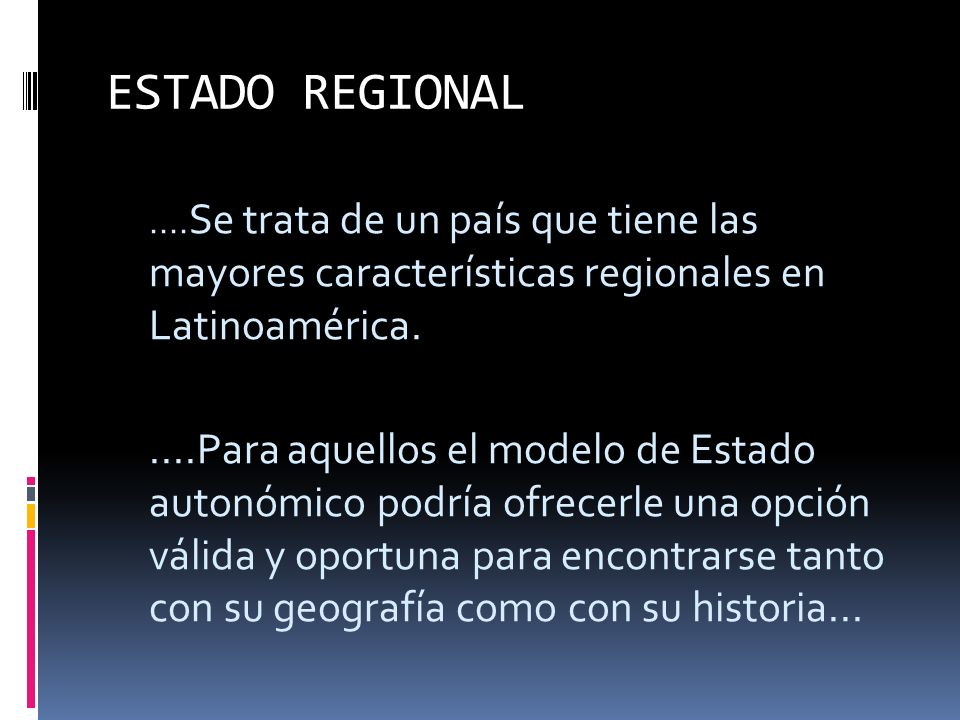 Colombia: ¿Como un Estado regional